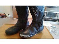 TCX COMPETIZIONE S GORE-TEX MOTORBIKE MOTORCYCLE BOOTS UK 11 EURO 46 GREAT CONDITION