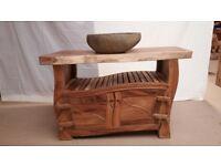 Vanity unit solid wood