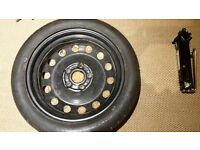 spare wheel and tyre, space saver,slim tyre, VW AUDI SEAT SKODA