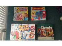 Board game bundle - cluedo, mouse trap, guess who, connect 4