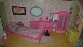 Dolls house dolls and accessories