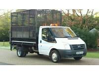 FORD TRANSIT CAGED TIPPER ONLY 61K FSH ONE OWNER IVECO DAILY MERCEDES SPRINTER