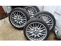 BMW E46 alloys with tyres