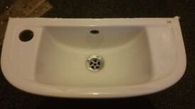 Rak ceramic white Wall mounted sink. Used, good condition