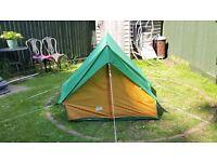 Pre-Owned Retro Greenfields Sun Trek 1. Two Person Green/Orange Ridge Tent