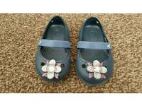 Navy Blue Baby Girls Crocs Size 4