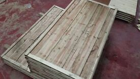 🌟Superb Quality Heavy Duty Waneylap Fence Panels 8mm Boards