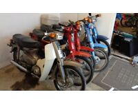 16x honda c50 s,c70 s c90 s plus new and used spares