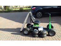 Golf Buggy. Custom built, flexible, solid and reliable. 2xsets of tyre, new batts & ramps. £650ono.