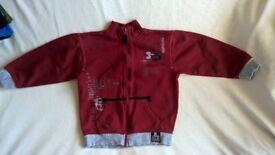 Boys Zipped Sweatshirt Top Size 5-6