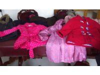 8 different girls coats/jackets. Age 6-9. From Debenhams designers, M&S, Next etc.