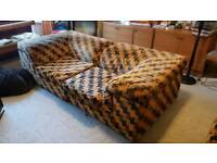Quirky 1970's Designer Sofa and Chair - FREE TO COLLECT - Porthcawl