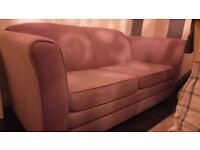 *REDUCED to £100* Two seater double sofa bed, metal action