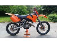 Ktm 125 sx motocross bike 2000
