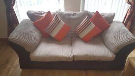 3 & 2 Seater Beige Sofa