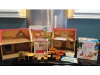 Sylvanian families toy houses, shop and some accessories
