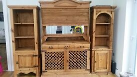 Wine bar sideboard drinks cabinets in antique pub bar style, very unusual, in great condition !!!!