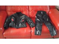Kids motor bike jacket and trousers