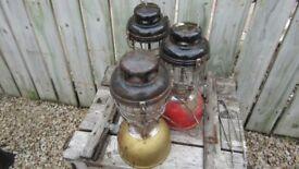 THREE TILEY LAMPS/ SPARES OR REPAIR