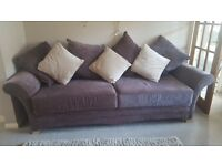 3 seated sofa with foot stool and cushions