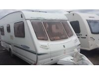 'FIXED BED CARAVAN. LOVELY 2003 ABBEY 540 CRIS REGISTERED. FULL AWNING & EVERYTHING NEEDED FOR HOLS
