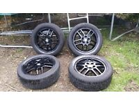 16 inch stylish Vauxhall ASTRA VECTRA ZAFIRA ALLOYS WITH GOOD TYRES 5 STUD 5 × 110