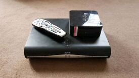 Sky + HD box, with controller and router