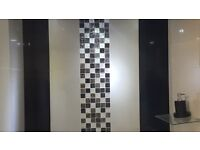 Luxurious black and white wall/floor tiles