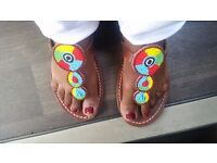 Maasai beaded Handmade leather sandals