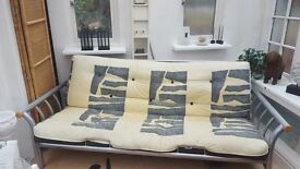 Sofa bed/futon bed - extremely good quality heavy futon and sturdy frame £150 ono Can be dismantled