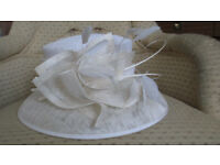 Ladies Cream Occasion Hat