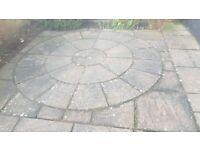 Paving square / circle shape