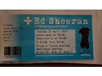 1 x seated Ed Sheeran ticket in hand Nottingham tues 25th block 5, Row N, Seat 7
