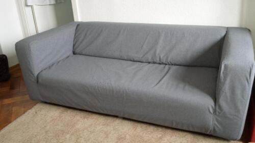 ikea klippan sofabezug grau neu nur 1x kurz aufgezogen in aachen aachen mitte ebay. Black Bedroom Furniture Sets. Home Design Ideas