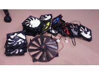 18 computer case fans, 16 x 120mm, 1x 140mm, 1x 220mm, Good brands