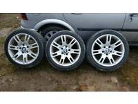 BMW Style 97 17 Inch M Sport Alloys with nearly new tyres! £99 ONO