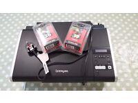 LEXMARK X4650 All-in-One Wireless Inkjet Printer + 2 x new cartridges bundle