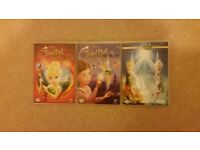 3 Tinkerbell DVD's in Great Condition