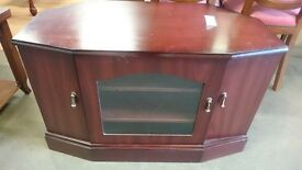Glass Panel Cabinet TV Stand
