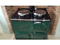 2 Oven Gas Aga in British Racing Green. Immaculate condition. Fully refurbished only 2 years ago.