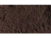 Brown screened top soil