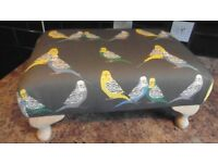 Foot Stool Budgie as new hand made.