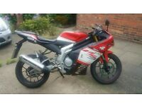 Rieju rs3 125cc sports bike very fast with full v5
