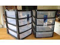 A4 plastic storage unit