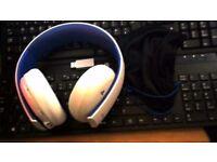 ps4 sony wireless headset whitte