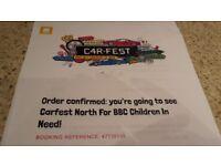Carfest North 2018 Tickets.