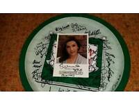 Newton and ridley tray signed by the coronation street cast