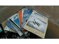 Vintage Aeroplane and Motorcycle magazines.