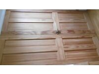 Pine internal doors engineered wood x 6