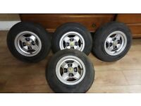"Rare Set 4 Vintage Italian BWA 10"" Wheels For Mini In Great Condition"